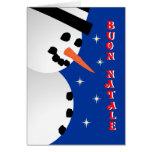 Snowman Xmas - italian Greeting Cards