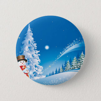 snowmans christmas 6 cm round badge