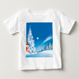 snowmans christmas baby T-Shirt