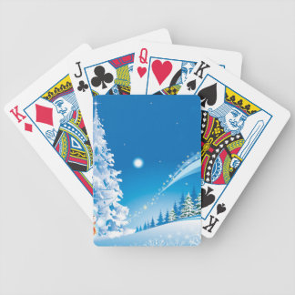 snowmans christmas bicycle playing cards