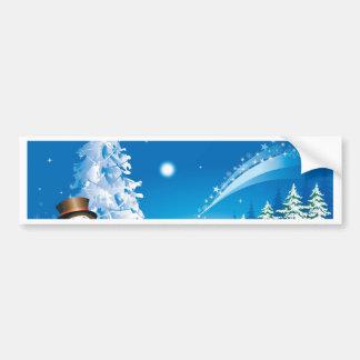snowmans christmas bumper sticker
