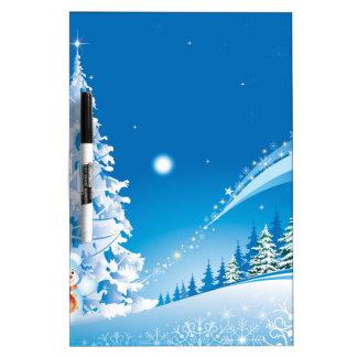 snowmans christmas dry erase board