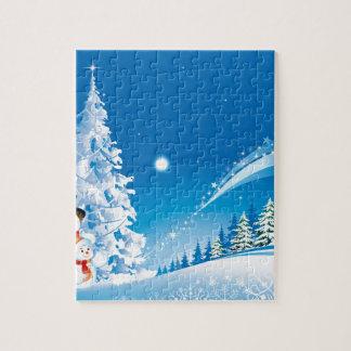 snowmans christmas jigsaw puzzle