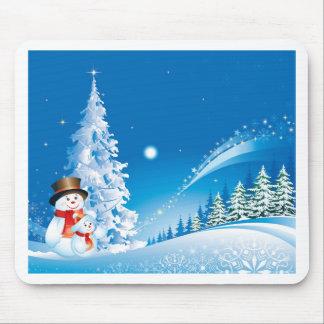 snowmans christmas mouse mat