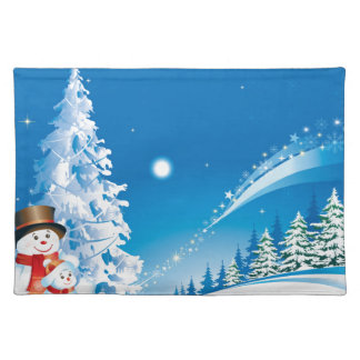 snowmans christmas placemat
