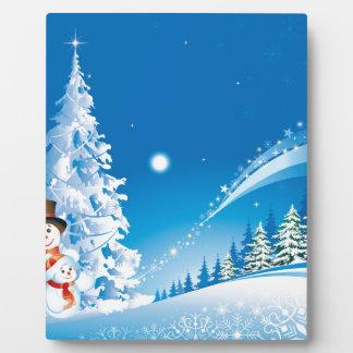 snowmans christmas plaque