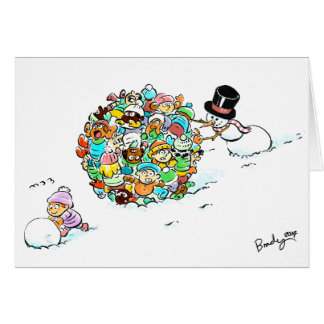 Snowman's Holiday Fun Greeting Card