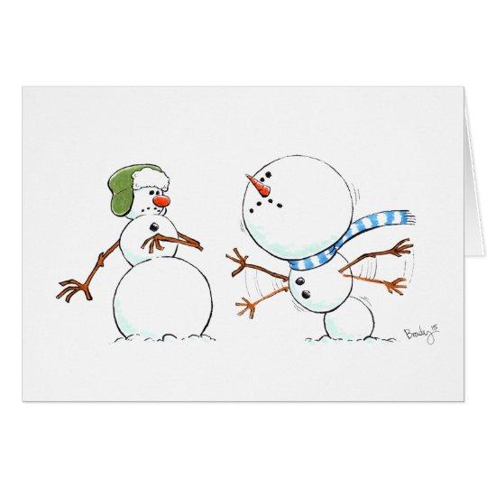 Snowman's Holiday Scramble Card