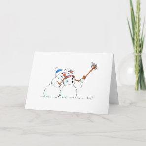 Snowman's Holiday Selfie