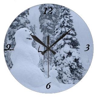 Snowman's Paradise Large Clock