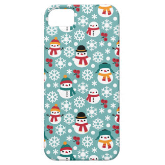 Snowmans & Snowflakes Seamless Pattern iPhone 5 Cover