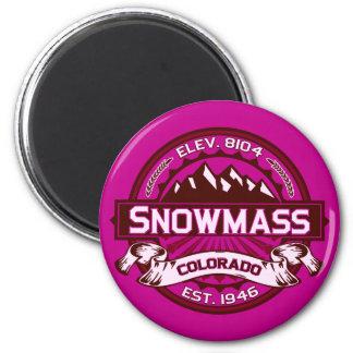 Snowmass Color Logo Raspberry Magnet