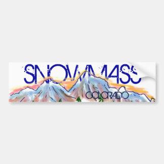 Snowmass Colorado artistic mountain sticker Bumper Sticker
