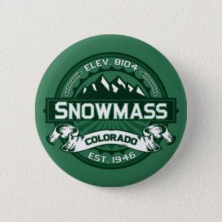 "Snowmass ""Colorado Green"" Logo 6 Cm Round Badge"