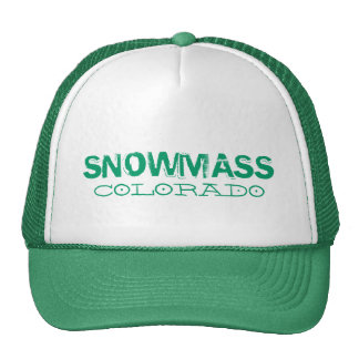 Snowmass Colorado simple green hat