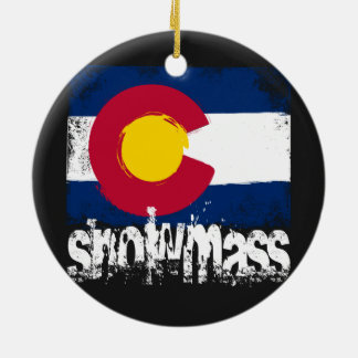 Snowmass Grunge Flag Christmas Ornament