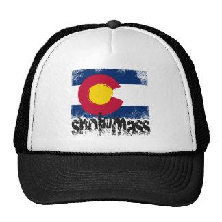 Snowmass Grunge Flag Trucker Hats