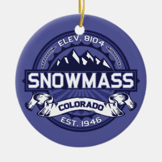 Snowmass Midnight Christmas Ornament