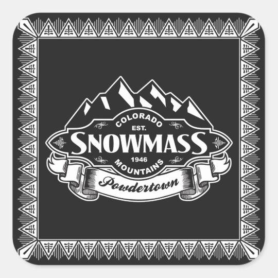 Snowmass Mountain Emblem Square Sticker