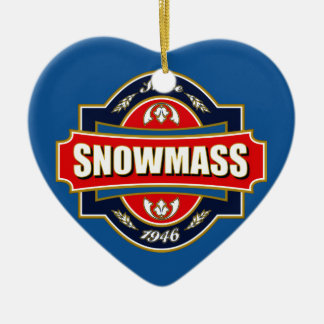 Snowmass Old Label Christmas Ornament