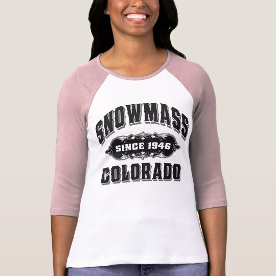 Snowmass Since 1946 Black T-Shirt