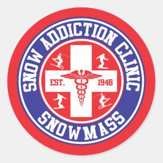 Snowmass Snow Addiction Clinic Round Sticker