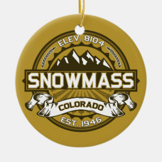 Snowmass Tan Christmas Ornament