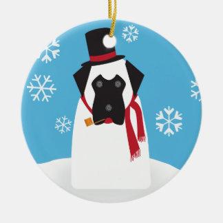 Snowmastiff Ornament