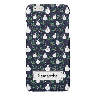 Snowmen and mistletoe pattern iPhone 6 plus case