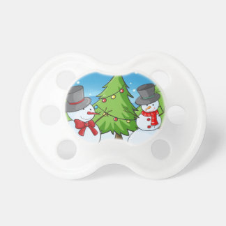 snowmen baby pacifier