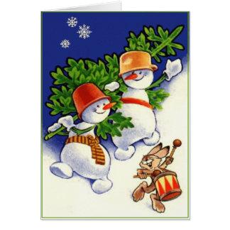 Snowmen Greeting Card