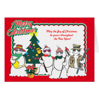 snowmen Christmas card 15