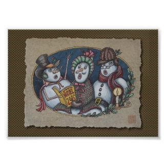 Snowmen Christmas Carolers Photo