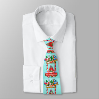 SNOWMEN CHRISTMAS CARTOON Neck Tie