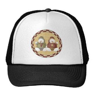 Snowmen Dolls Mesh Hats