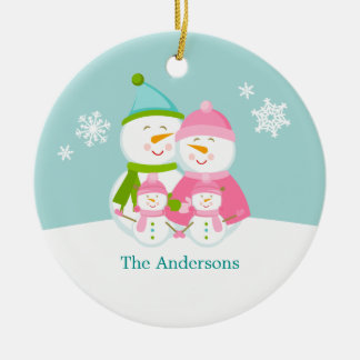 Snowmen Family Christmas Christmas Ornament