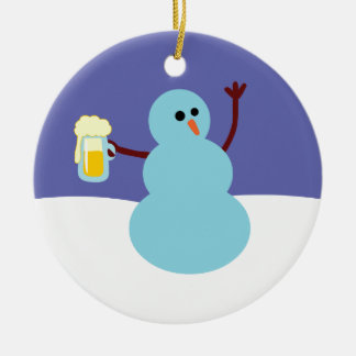 Snowmen Gone Wild Christmas Ornament