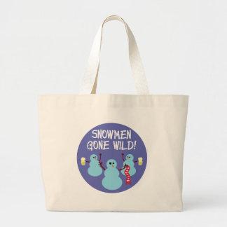 Snowmen Gone Wild! Large Tote Bag