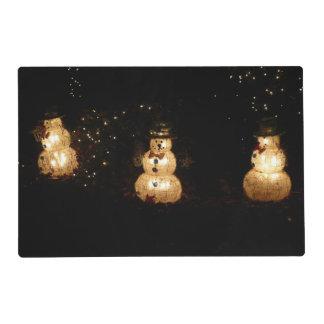 Snowmen Holiday Light Display Placemat