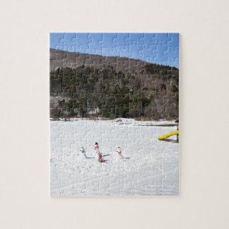 Snowmen in a field jigsaw puzzle