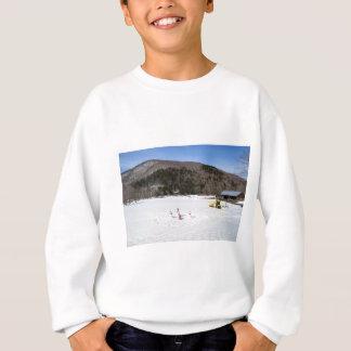 Snowmen in a field sweatshirt