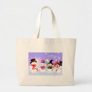 Snowmen Jumbo Tote Bag