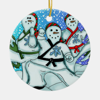 Snowmen karate Ornament