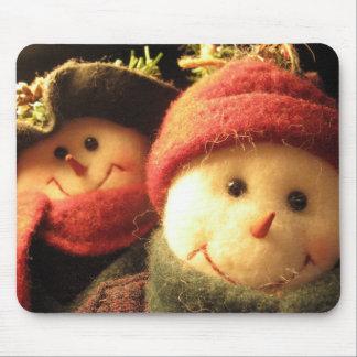 Snowmen Mouse Mat