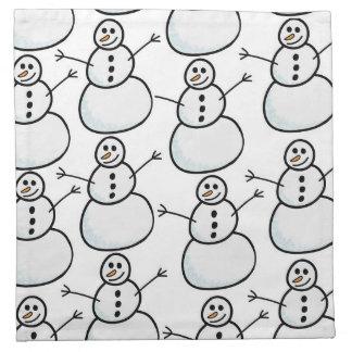 Snowmen Napkin
