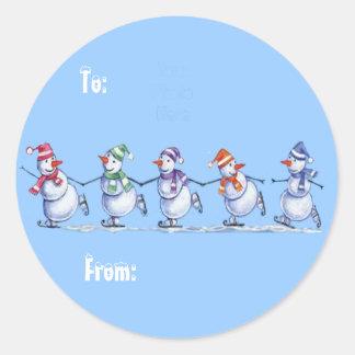 Snowmen on Ice gift tags