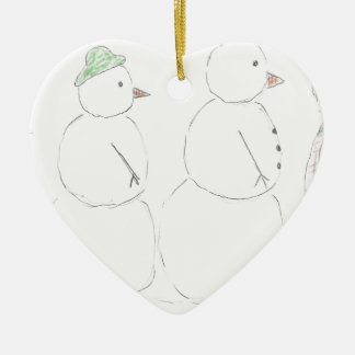 Snowmen on Parade Christmas Ornament