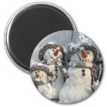 Snowmen Refrigerator Magnet