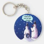 Snowmen Should NOT Eat Beans Basic Round Button Key Ring
