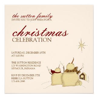 Snowmen & Star · Christmas Invitation